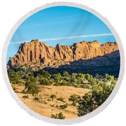 Navajo National Monument Canyons Round Beach Towel