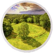 Navan Fort Round Beach Towel