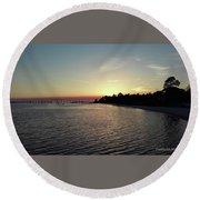 Navarre Florida Sunset Round Beach Towel