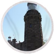 Navesink Twinlights Round Beach Towel