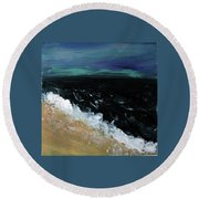 Navy Blue Ocean Round Beach Towel