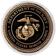 Navy Seal Round Beach Towel