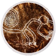 Nazca Monkey Round Beach Towel