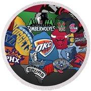 NBA Round Beach Towel
