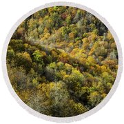Nc Fall Foliage 0545 Round Beach Towel