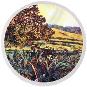 Near Childress Round Beach Towel