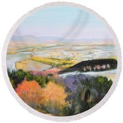 Near Clawddnewydd In North Wales. Round Beach Towel