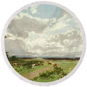 Near Liverpool. New South Wales Round Beach Towel