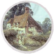 Near Witley Surrey Round Beach Towel by Helen Allingham