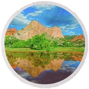 Nearly 2 Million People Rollick In This World-famous City Park Every Year.  Round Beach Towel