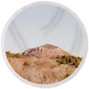 Nearly Deserted Round Beach Towel