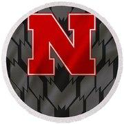 Nebraska Cornhuskers Uniform Round Beach Towel