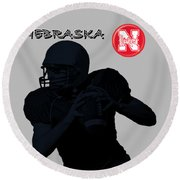 Nebraska Football Round Beach Towel