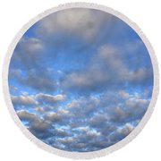 Nebraskan Altocumulus Clouds Round Beach Towel
