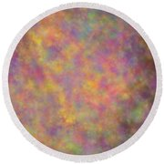 Nebula Round Beach Towel by Writermore Arts