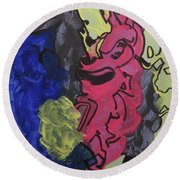 Nebulae 2 Round Beach Towel