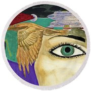 Nebular Round Beach Towel