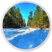 Necedah Wildlife Refuge, As Far As You Can See Round Beach Towel