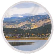Nederland Colorado Scenic Autumn View Boulder County Round Beach Towel by James BO  Insogna