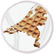 Nederland Stroopwafelland Round Beach Towel