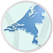 Nederland Waterland Round Beach Towel