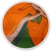 Need A Hand - Tile Round Beach Towel