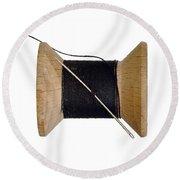 Needle And Thread Round Beach Towel