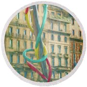 Needle And Thread Milan Italy Round Beach Towel