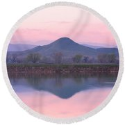 Needle In A Haystack Mountain Round Beach Towel