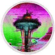 Needle In A Raindrop Stack Round Beach Towel