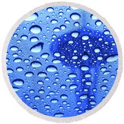 Needle In Rain Drops H006 Round Beach Towel