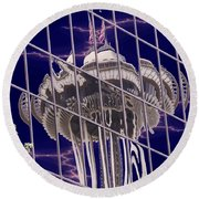Needle Reflection Round Beach Towel
