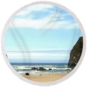 Needles And The Haystack Round Beach Towel