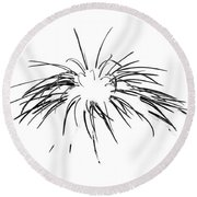 Needles In The Snow Round Beach Towel