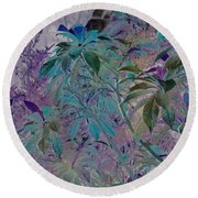 Negative Jungle Round Beach Towel