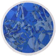 Negative Photo Silkscreen Round Beach Towel
