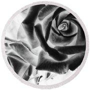 Negative Roses Round Beach Towel