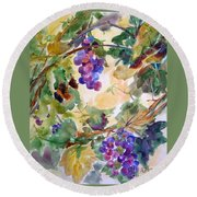Neighborhood Grapevine Round Beach Towel