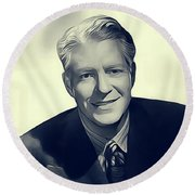 Nelson Eddy, Vintage Actor Round Beach Towel