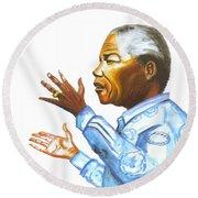 Nelson Mandela Round Beach Towel