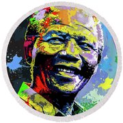 Nelson Mandela Madiba Round Beach Towel