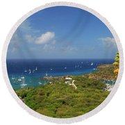 Nelson's Dockyard Antigua Round Beach Towel