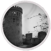 Nenagh Castle County Tipperary Ireland Round Beach Towel
