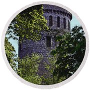 Nenagh Castle Ireland Round Beach Towel