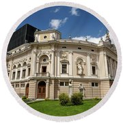 Neo Renaissance Architecture Of The Slovenian National Opera And Round Beach Towel