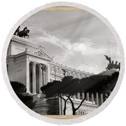Neoclassical Architecture In Rome Round Beach Towel by Stefano Senise