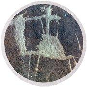 Neolithic Petroglyph Round Beach Towel