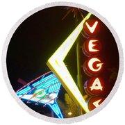 Neon Signs 3 Round Beach Towel