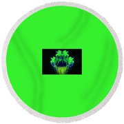 Neon Turtle Round Beach Towel