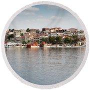 Neos Marmaras Greece Summer Vacation Round Beach Towel